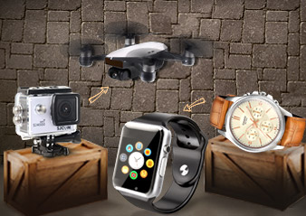 See the evolution of cameras and watches